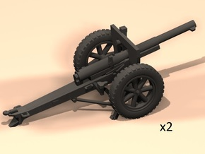 1/100 75mm French 1897/38 long range fire in Smooth Fine Detail Plastic