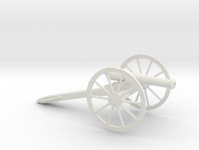 1/48 Scale American Civil War Cannon M1857 12- Pou in White Natural Versatile Plastic