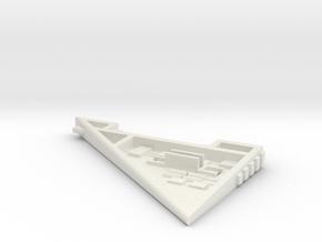 Starcom - Starhawk - right wing in White Natural Versatile Plastic