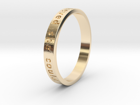 She Believed in 14k Gold Plated Brass: 4 / 46.5
