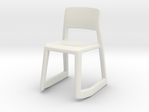 Miniature Tip Ton RE - Edward Barber & Jay Osgerby in White Natural Versatile Plastic: 1:12
