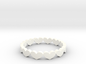 Hearts Ring Design Ring Size 5 in White Processed Versatile Plastic