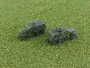 Type 91 Sumida Armoured Car (Road) 1/285 in Smooth Fine Detail Plastic