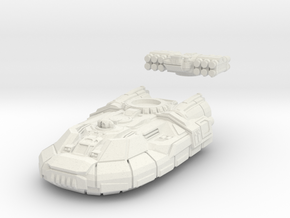 Gadfly - Light Hovertank in White Natural Versatile Plastic: 6mm