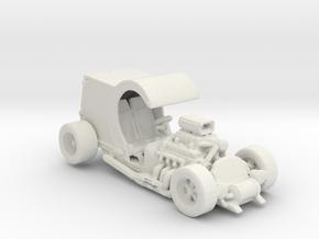 C Cab Short Body Hot Rod 1:160 scale in White Natural Versatile Plastic