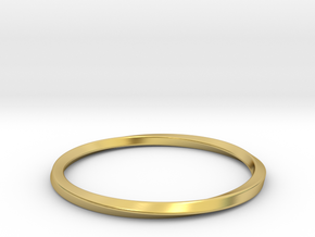 Mobius Bracelet - 270 in Polished Brass: Small