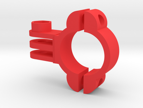 Bike Mount 24mm for GoPro (all Models) in Red Processed Versatile Plastic