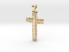 Rocky Style Cross in 14K Yellow Gold: Small