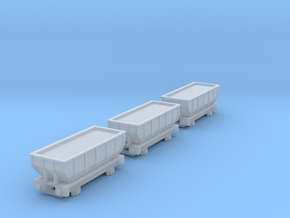 T-gauge 3 Hoppers - Custom Wheels, see description in Smooth Fine Detail Plastic