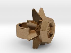 Daffodil Ring raw metal in Natural Brass