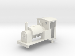 1:35 scale saddle tank loco in White Natural Versatile Plastic