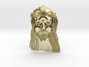 Iced Jesus in 18K Yellow Gold
