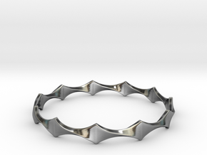 Twisted Wave Bracelet_B in Antique Silver: Small