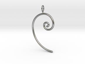 Fibonacci spiral, according to the golden ratio in Natural Silver