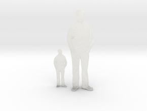 Architectural Man - 1:50 + 1:100 - Standing in Smooth Fine Detail Plastic