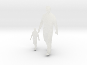 Architectural Man - 1:50 + 1:100 - Walking  in Smooth Fine Detail Plastic
