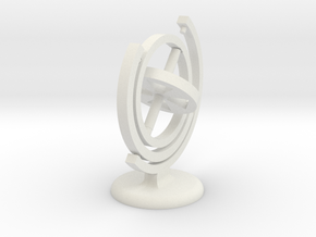 Gyroscope with a stand (in white) in White Strong & Flexible