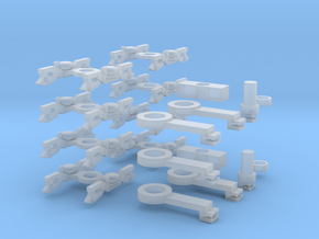 Adelante robust bogies and coupling arms in Smooth Fine Detail Plastic