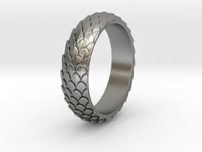 Dragon Scale Ring_A in Natural Silver: 5 / 49