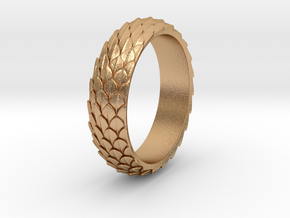 Dragon Scale Ring_B in Natural Bronze: 5 / 49