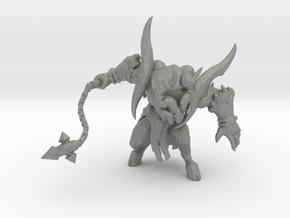 Horned Devil 60mm miniature model fantasy game rpg in Gray PA12