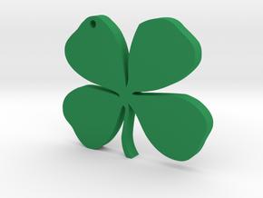 four-leaf clover in Green Processed Versatile Plastic