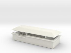 Food Counter (Isle) /87 in White Natural Versatile Plastic