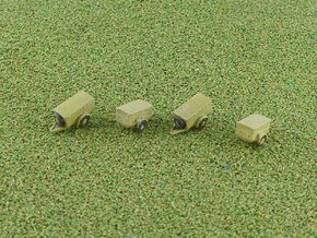 German sd.Ah. 57 Ammo Trailer  1/285  in Smooth Fine Detail Plastic