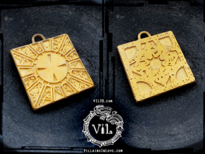 HELLRAISER Puzzle Box Pendant ⛧ VIL ⛧ in Polished Gold Steel