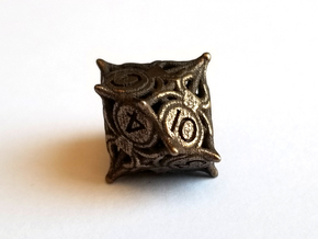 D10 Balanced - Spiders in Polished Bronze Steel