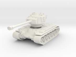 T-26E5 Pershing (no skirts) 1/144 in White Natural Versatile Plastic