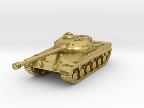 Tank - T-64 - Object 430 - scale 1:160 in Natural Brass