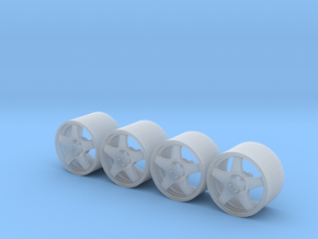TS020 Road Wheels in Smoothest Fine Detail Plastic