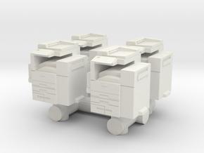 Office Printer (x4) 1/87 in White Natural Versatile Plastic
