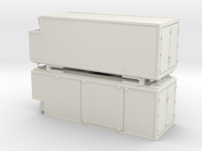 RhB container swap-body Wechselbehälter x2 in White Natural Versatile Plastic: 1:150