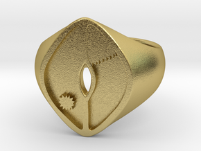 Brass Ndome Ring in Natural Brass