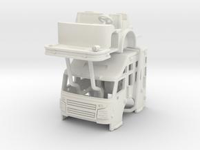 """1/64 Rosenbauer 24"""" raised roof cab in White Natural Versatile Plastic"""