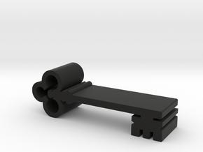 Key Meeple Token in Black Natural Versatile Plastic
