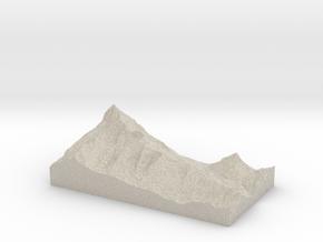 Model of Schwerteckkees in Natural Sandstone