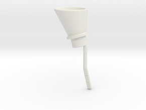 Oil Funnel in White Natural Versatile Plastic