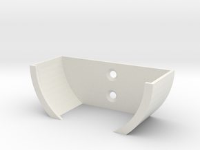 Alexa Wall Holder in White Natural Versatile Plastic