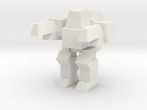 Peewee Pose 1 in White Natural Versatile Plastic