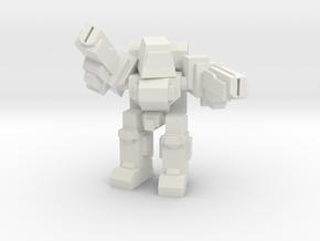 Peewee V1 Pose 4 in White Natural Versatile Plastic