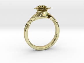 Flower Ring 74 (Contact to Add Stone) in 18K Yellow Gold