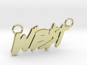 WEST Pendant in 18K Yellow Gold