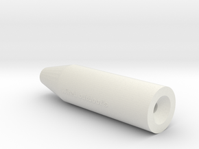 Air Rifle Sound Suppressor 11mm in White Natural Versatile Plastic