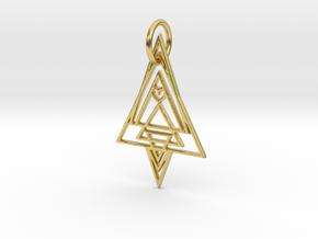 Geometria Pendant in Polished Brass: Medium