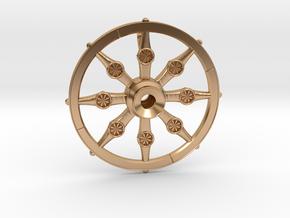 Dharma Chakra Ø:24-36mm in Polished Bronze: Medium
