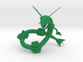 Rayquaza in Green Processed Versatile Plastic