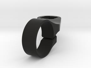 Lezyne GPS Out-Front Handlebar Mount in Black Natural Versatile Plastic: Medium